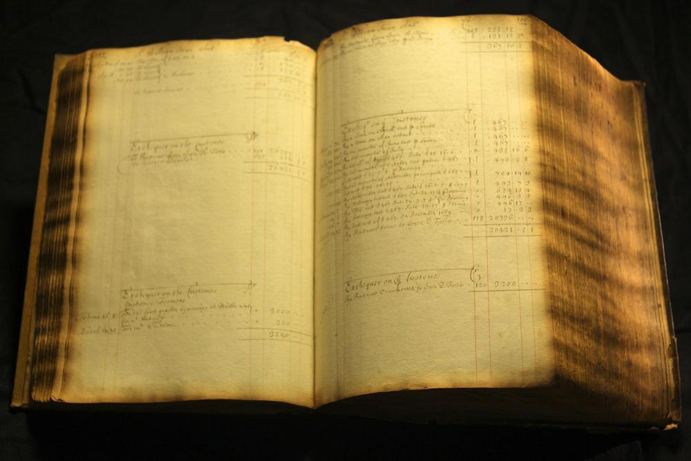 ACCOUNT LEDGER BOOK OF 17th CENTURY BANKER EDWARD BACKWELL